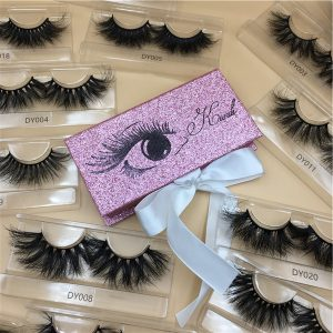 Pink Glitter Custom Eyelash Packaging Boxes