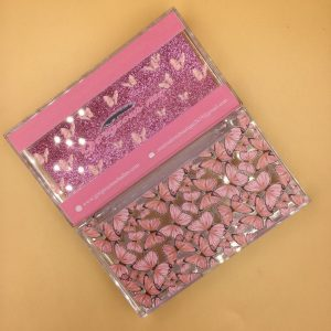 Custom Eyelash Packaging With Pink Butterfly