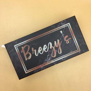 Custom Lash Black Marble Box Packaging