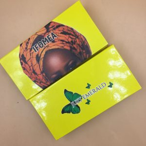 Yellow Custom Eyelash Packaging Box With Butterfly
