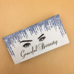 Custom Eyelash Packaging With Blue Drip