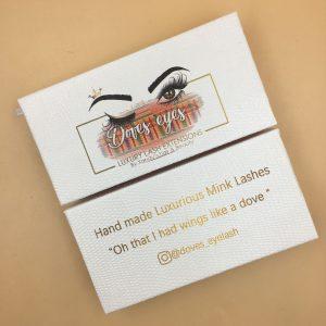 White Eyelash Packaging