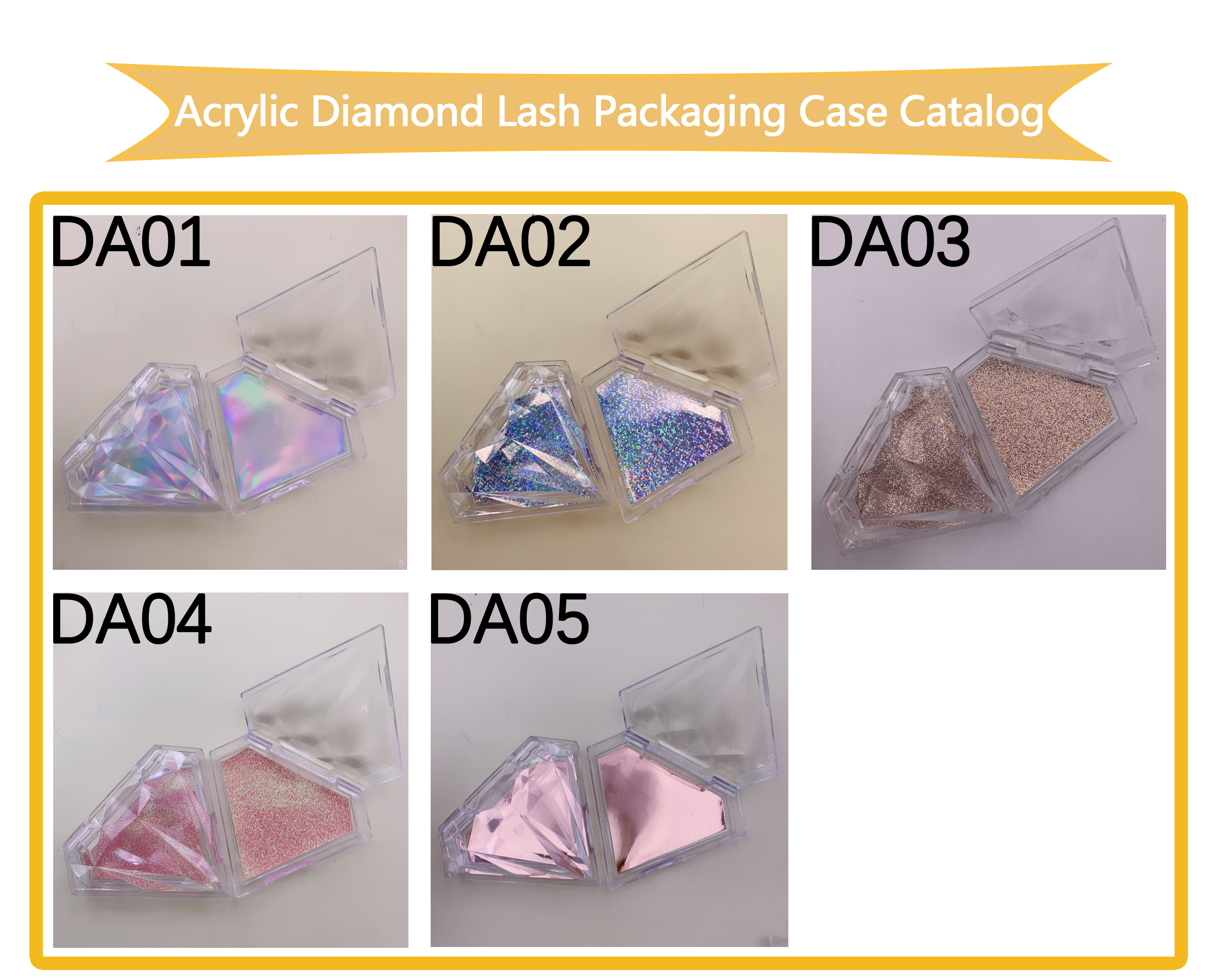 Diamond Custom Eyelash Packaging Case