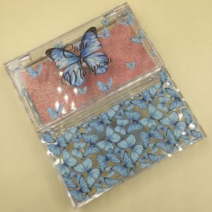 Custom Eyelash Packaging With Blue Butterfly