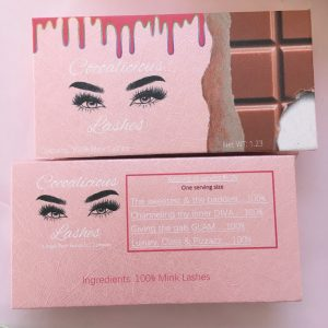 Create Your Own Chocolate Eyelash Packaging Candy