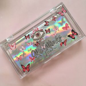 Custom Eyelash Packaging Box With Butterfly