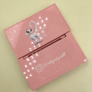 Cheap Custom Pink Eyelash Boxes With Cat