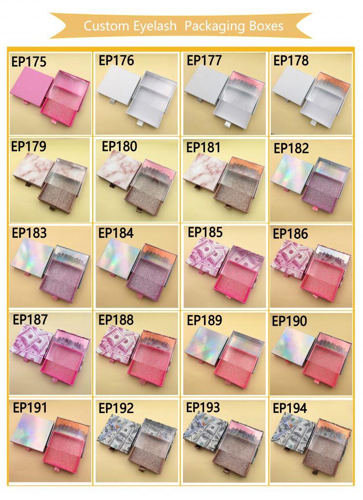 Custom Square Eyelash Packaging