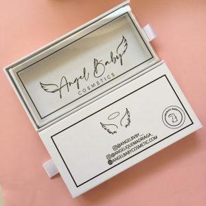 Custom White Eyelash Packaging Box