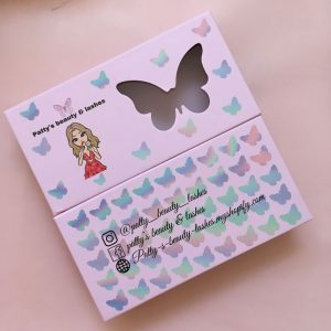 Custom Butterfly Eyelash Packaging Box
