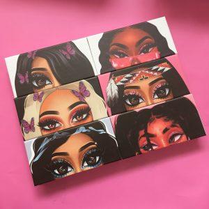 Create Your Own Cartoon Eyelash Packaging