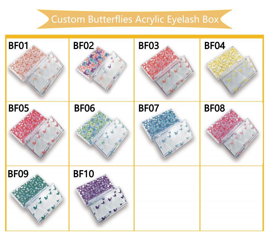 Wholesale Custom Butterfly Eyelash Packaging Box